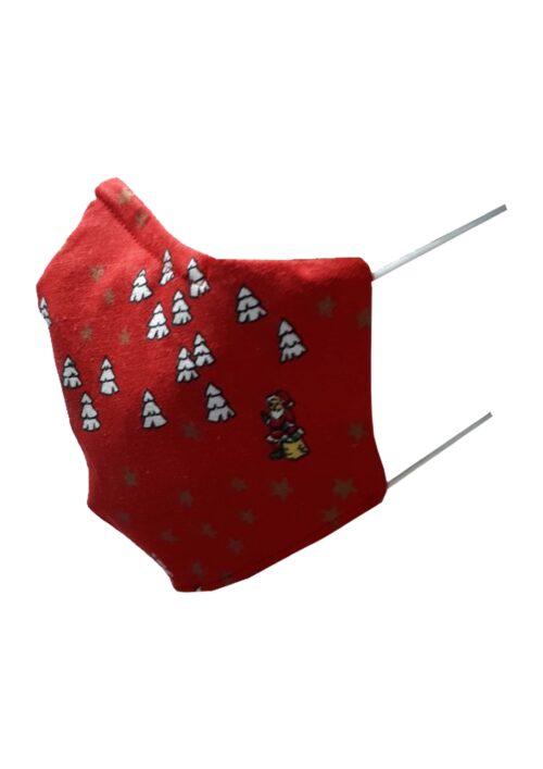 Kerstmondkapje zijkant rood