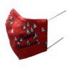 Kerstmondkapje zijkant rood Happu Christmas zwart