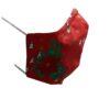 Kerstmondkapje zijkant rood met hulst