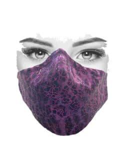 Mondkapje paars met luipaard print en paarse foil